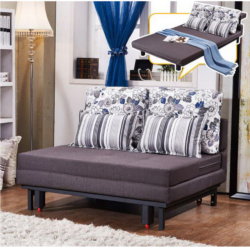 260325/1.45m/High-density sponge/Foldable sofa bed/Lazy living room leather art sofa furniture/Home multi-functional sofa/
