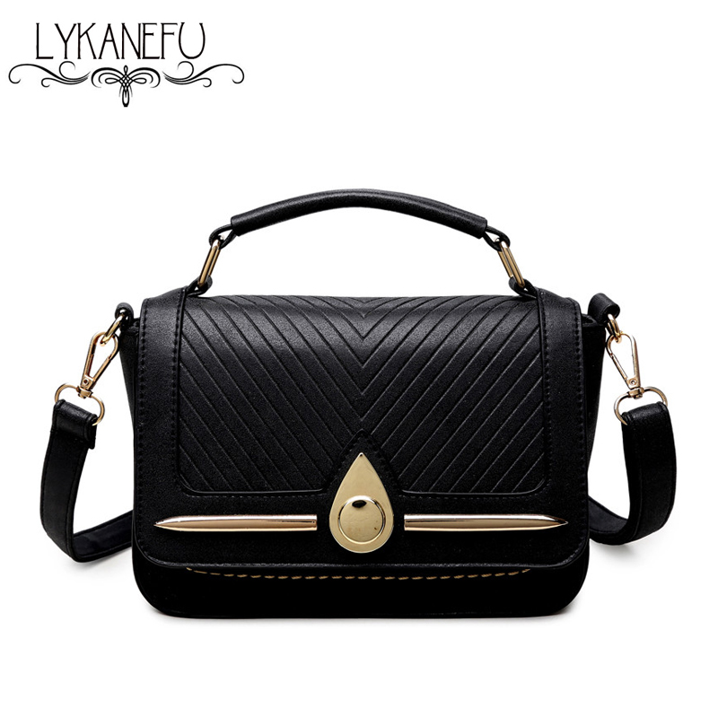 LYKANEFU Brand New Black Women Cross Body Bag Female Shoulder Bags Tote Purse Clutch Small Women Messenger Bags with Long Strap