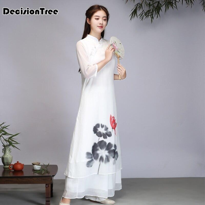 2019 été ao dai japonais vente directe coton femmes ao dai yukata haut de gamme vietnam aodai cheongsam robe