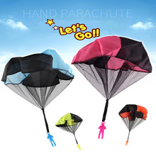 2019 Hand Throwing Children Mini Play Parachute Toy Educational Toys For Kids Boys Outdoor Games Soldier Sport