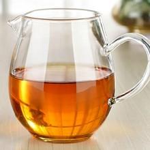 1 шт. Термостойкое стекло прозрачная Высокая емкость утолщение ярмарка чашка для кунг-фу чай аксессуары 450 мл JQ 1078