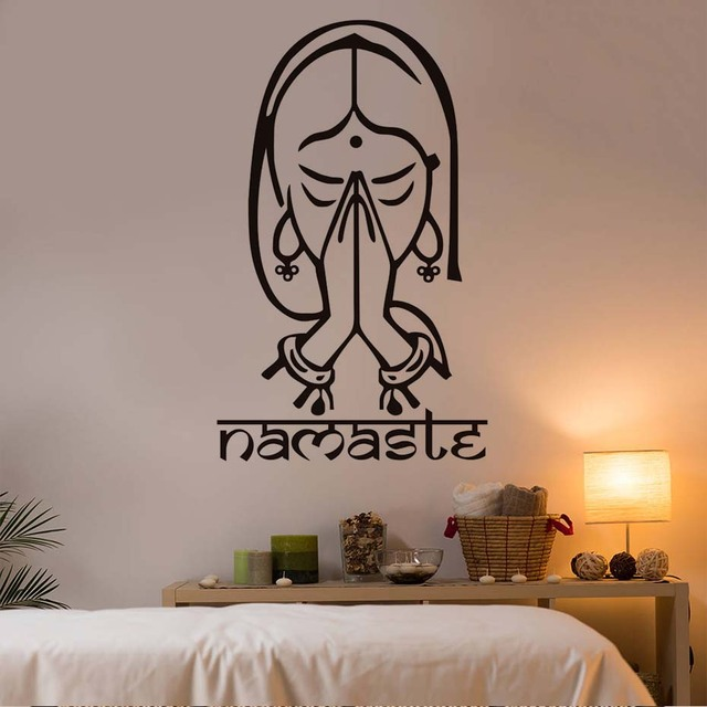 Wholesale Price Hot Indian Yoga Wall Stickers Namaste Living Room Home  Decorative Vinyl Wall Decal Stickers