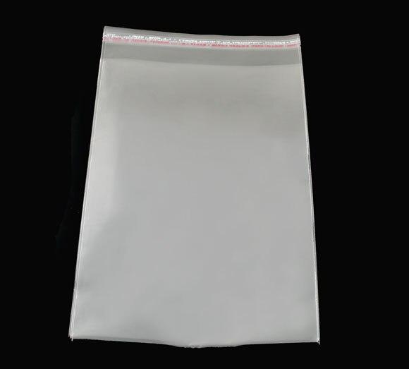 8SEASONS 100 PCs Clear Self Adhesive Seal Plastic Bags 15x24cm (B04011)