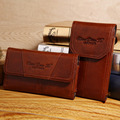 Vintage Men Cowhide Genuine Leather Fanny Waist Hook Bag Purse Cell/Mobile Phone Case Cover Pocket Hip Bum Belt Money Pack Pouch