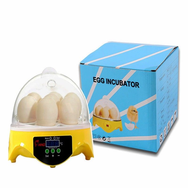 Newest 7 Eggs Automatic Brooder Turning Incubator Chicken Hatcher Temperature Control 24 eggs mini incubator automatically eggs turning hatcher machine chicken experimental teaching equipment