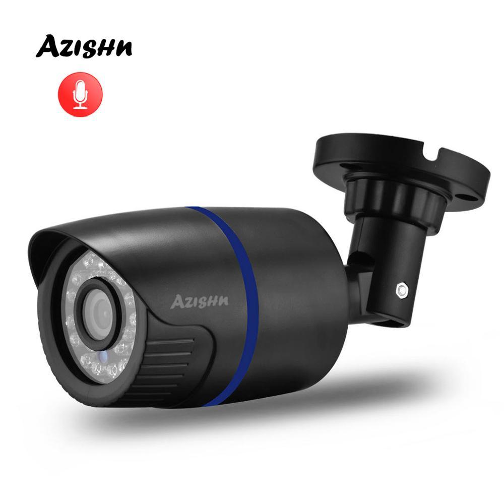 "AZISHN H.265 5MP 1/2.8"" SONY IMX335 Audio IP Camera Waterproof Video Network 24IR Day/Night ONVIF XMEye P2P CCTV Cameras 2MP/4MPSurveillance Cameras   -"