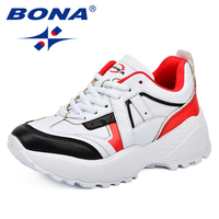 BONA New Classics Style Women Running Shoes Synthetic Mixed Color Female Athletic Shoes Outdoor Jogging Shoes Free Shipping