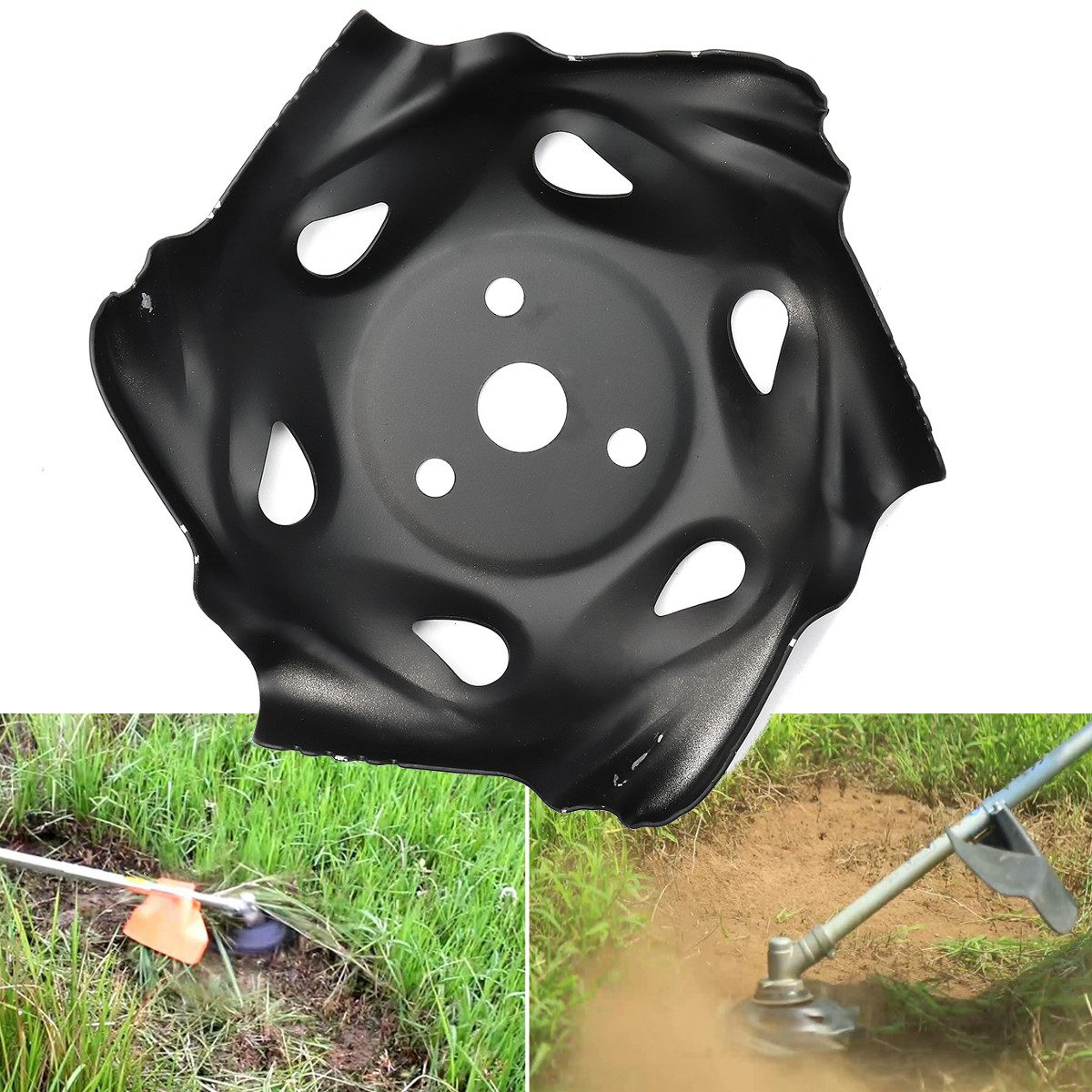 Metal Grass Mowing Lawnmower Weeding Tray Trimmer Head Machine Accessories Garden Power Tool Lawn Mower Parts Black