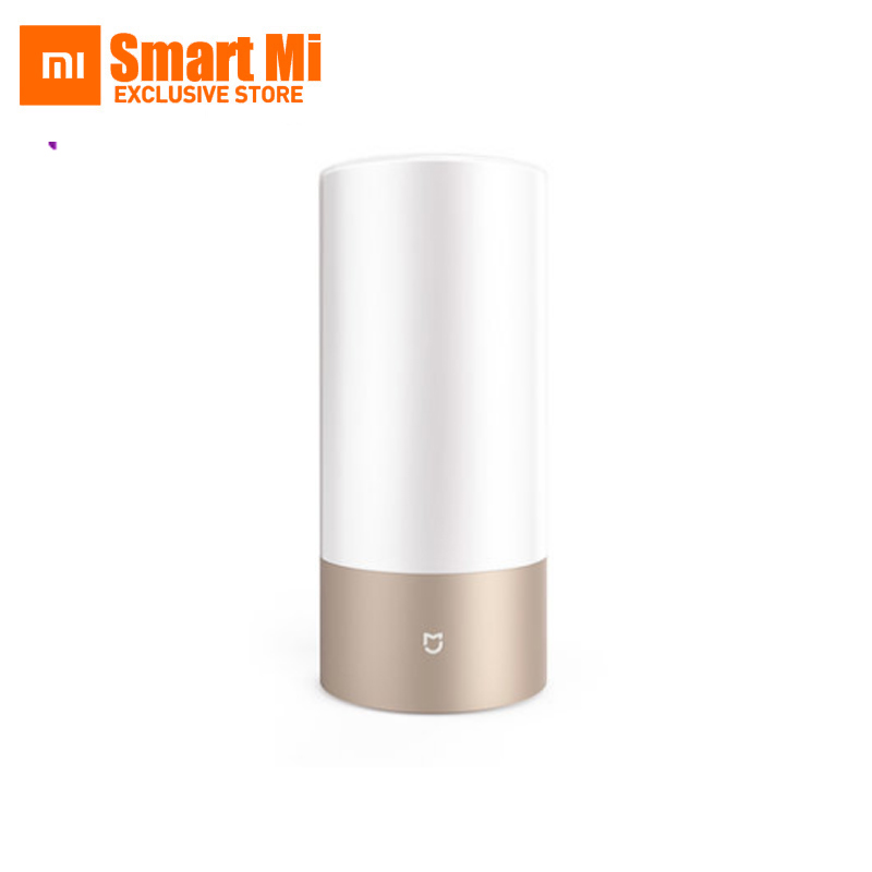 Original Xiaomi Mijia LED Smart Bedside Table Cylinder Touch Dimmable Lamp Bluetooth And WiFi Dual Control By Smart Phone
