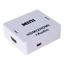 2017 Original White Mini HDMI2HDMI Video Converter HDMI To HDMI Audio Adapter Support HD 720P 1080P For PC Laptop HDTV Projector