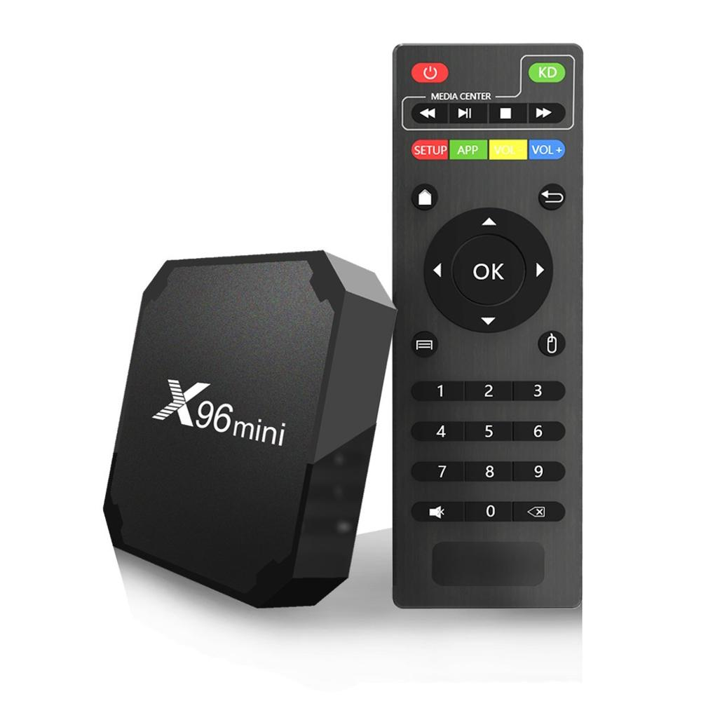 Original X96mini Android 7.1 X96 mini Smart TV BOX Quad Core Amlogic S905W 2GB+16GB Support 2.4 WIFI+IR Cable  4K*2K Set top box-in Set-top Boxes from Consumer Electronics    1