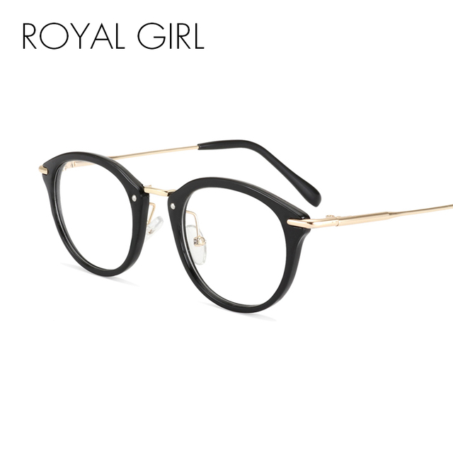 più recente a475e 58fdf US $9.74 |ROYAL RAGAZZA Classica Retro Delle Donne Occhiali in acetato di  Montature da vista lenti Incolori Occhiali Vintage Occhiali ss718 in ROYAL  ...
