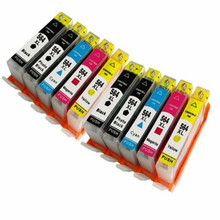 10X ink Cartridge For 564xl 564 for Photosmart 5510/5511/5514/5515/5522/ 5525/5520/6515/6520/7510/7515/B110c printer 2015 new [hisaint]2pk ink cartridge for hp 564xl black photosmart 5510 5514 5515 5520 6520 printer