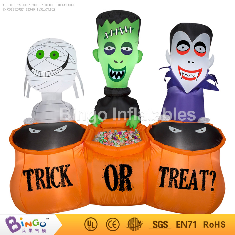 halloween inflatable trick or treat sugar container inflatable Zombie for halloween party decoration BingoinflatablesBG-A1139