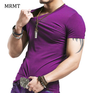 2020 Brand New Men T Shirt Tops V neck Short Sleeve Tees Men's Fashion Fitness Hot T-shirt For Male Free Shipping Size 5XL(China)