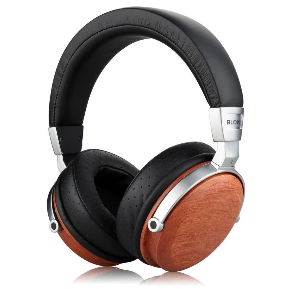 2018 BLON B7s HiFi Wooden Headphones 50mm Speaker Noise Cancelling Active DJ Headset With Free Shipping newest blon b7s hifi wooden headphones 50mm speaker noise cancelling active dj headset