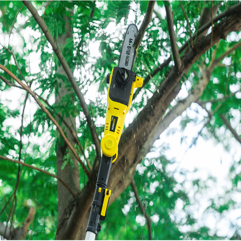Max 30cm Cutting Electric Telescopic Pruner Long Reach Pole 710W Pole Chain Saw Tree Cutter Chainsaw With 20m Cable 0 35m Wire