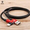 USB кабель Baseus 90 градусов для iPhone 5 6 6s 7 8 кабель для быстрой зарядки для iPad USB зарядный кабель L Тип кабель для передачи данных для мобильного те...