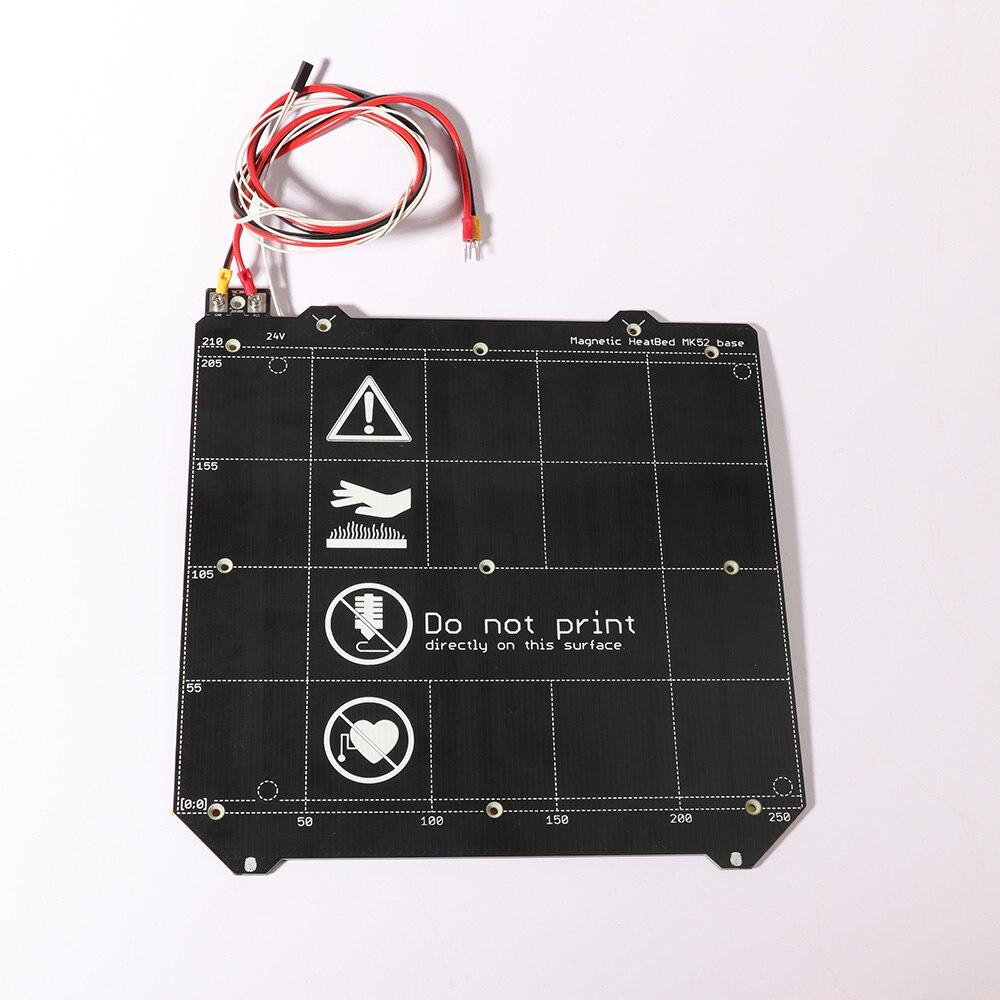 Imprimante 3d pièces Clone Prusa i3 imprimante 3d lit chauffant magnétique MK52 lit chauffant 24 V/12 V