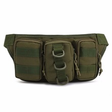 16*35*11cm Outdoor Traveling Waist Pack Bag Tactical Camouflage Water Resistant Fishing Tackle Storage Camping Hunting Bag