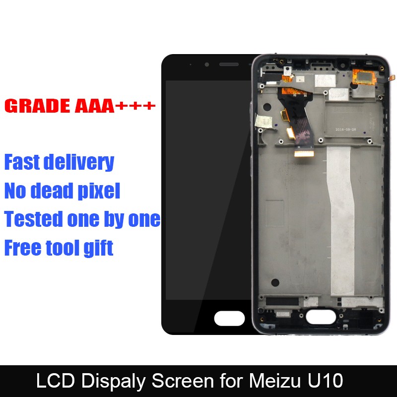 Tested LCD Display for Meizu U10 LCD Display with Frame + Touch Screen Digitizer Assembly Replacement