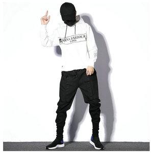 Image 4 - Мужские спортивные брюки, черные повседневные облегающие штаны шаровары в стиле хип хоп, весна 2020