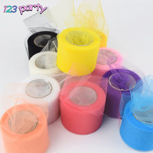 22M Multicolor Tulle Roll Organza Sheer Gauze DIY Girls Tutu Skirt Gift Wedding Party Decor Baby Shower Decor Supply(China)