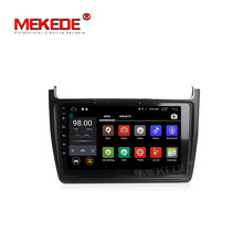 MEKEDE Quad core Pure Android7.1 Car tape recorder GPS DVD Player For VW polo Stereo Audio video support BT wifi 4g lte swc FM