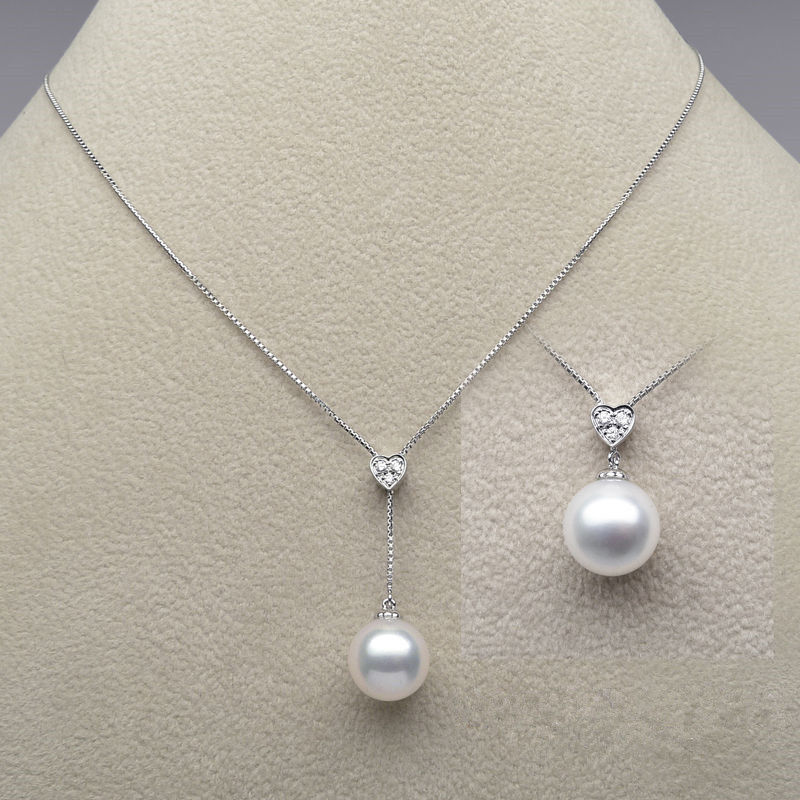 free shipping 11-13mm AAA White Real South Sea Pearl  Pendant Necklace 18 White Goldfree shipping 11-13mm AAA White Real South Sea Pearl  Pendant Necklace 18 White Gold