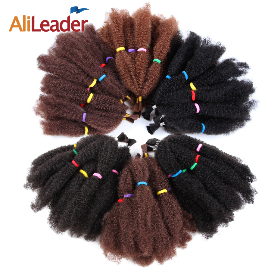 Alileader Collection Afro Extensions Bulk Hair Small Kinky Curly 12