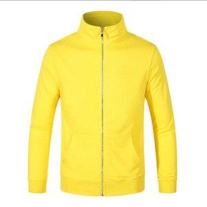 Image 5 - ロゴカスタマイズされたコットンパーカースタンド襟ジャケット DIY カスタマイズされたパターン designerhoodie 刺繍やデジタル印刷のロゴ