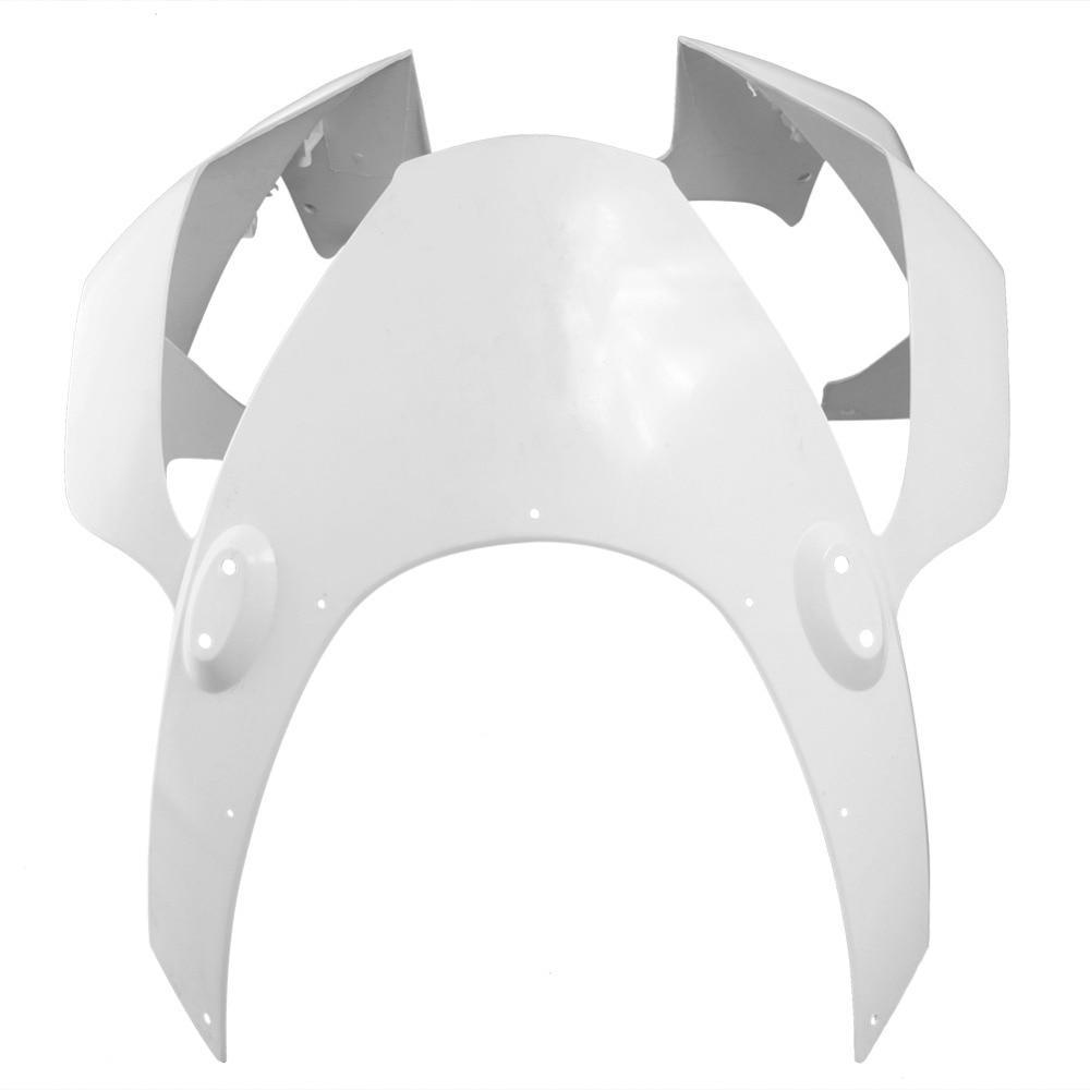 Pour Honda CBR954RR capot de carénage de nez avant supérieur 2002-2003 accessoires de pièce de moto moulage par Injection ABS plastique non peint blanc