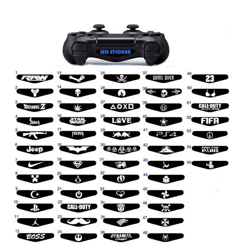 2 pcs Game Controller Light Bar Lightbar Decal Sticker For PS4 Playstation 4 Perfect