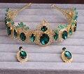 Moda faixas de cabelo de Strass cristal do vintage barroco jóia acessórios de noiva faixas de cabelo azul tiara de noiva acessórios para o cabelo das mulheres