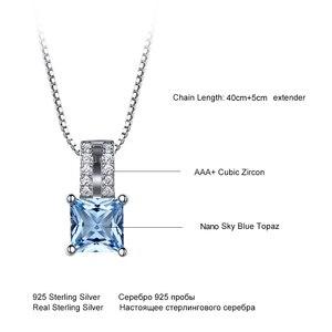 Image 5 - UMCHO colliers en argent Sterling 925, pendentifs élégants, bijoux en topaze bleu ciel, cadeau de mariage pour femmes, avec chaîne