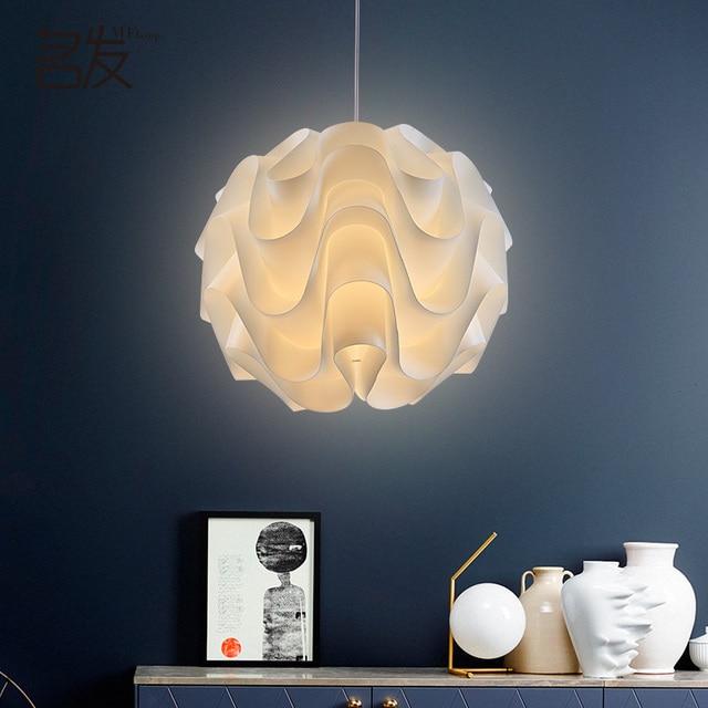 Lampes Suspendues modernes Vague Blanche Boule Pendentif Lampe Pour ...