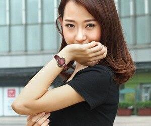 Image 3 - IBSO/BOERNI AIBISINO relojes ultrafinos de cuarzo para mujer, resistente al agua, con correa de cuero, B2210L