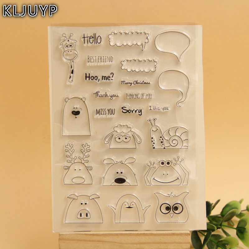 KLJUYP Hidden Animals Transparent Clear Silicone Stamp/Seal for DIY scrapbooking/photo album Decorative clear stamp sheets chicken animals transparent clear silicone stamp seal for diy scrapbooking photo album decorative clear stamp sheets a547