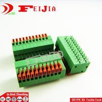 20PCS/Lot 141R-2.54-11P 11Pin PCB Spring Terminal Block ROHS connector Pitch 2.54mm  Free shipping
