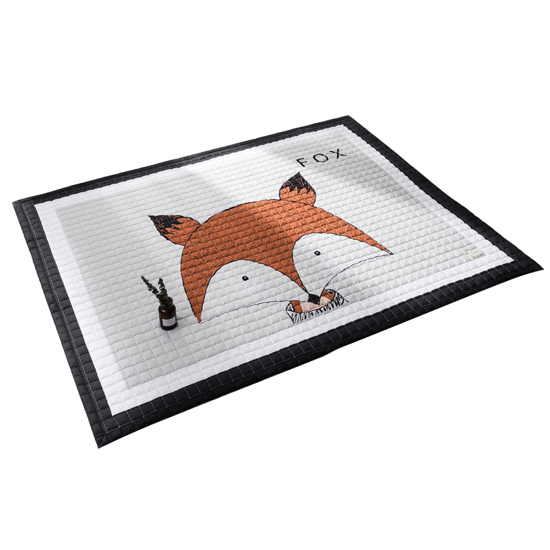 WINLIFE European Style Carpets Cute Cartoon Animals Rugs Pure Cotton Kids Prawling Mats Soft Rugs For Bedroom Non-Silp Carpets