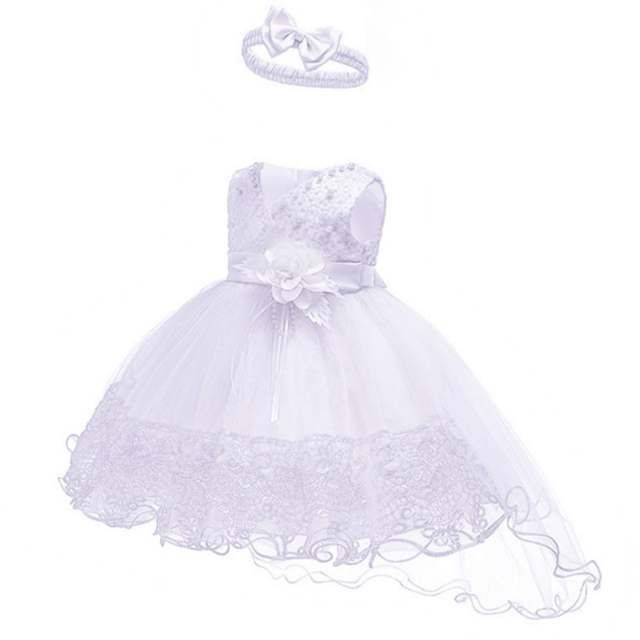 162a982dc5 Flower Girls Wedding Dress Baby Girls Christening Cake Dresses for Party  Occasion Kids 1 Year Baby Girl Birthday Dress