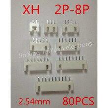 Высокое качество 80 ШТ. XH2.54mm 2 P-8 P в терминал Указатель на разъем пакет почты IC…