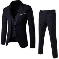 Men Suits For Wedding New Design 3 Piece Men's Suit Jacket Suit Men's Men's Tuxedo Trousers Pants Men's Slim Style Dress Suit