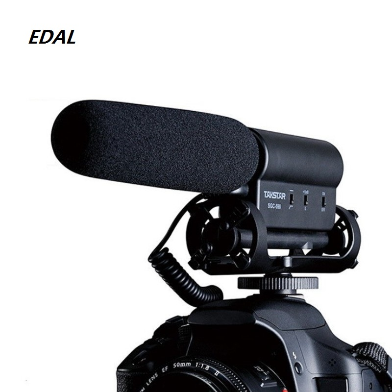 EDAL SGC-598 Photography Interview Microphone for Youtube Vlogging Video Shotgun MIC for Nikon Canon DSLR microphone image