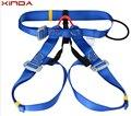 Al aire libre escalada arnés de seguridad escalada rappel cinturón busto cintura de usar el cinturón de seguridad del cinturón de seguridad azul GM1412