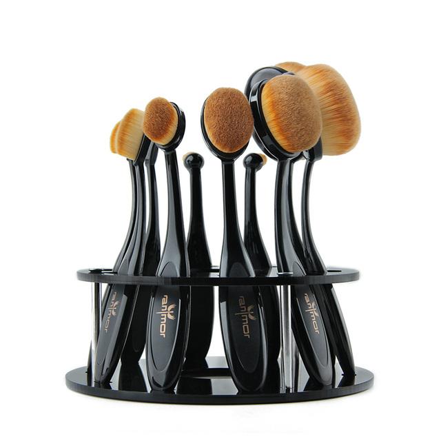 Oval Makeup Professional 10pcs Brush Set