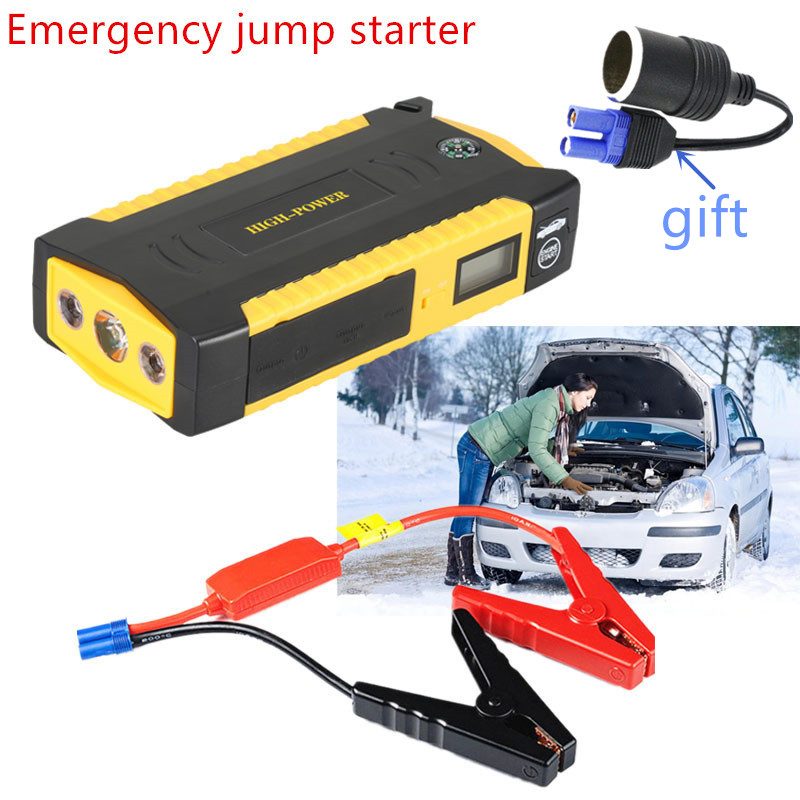 Multifunction Car Jump Starter 12V Power Bank Portable font b Battery b font Booster pack 16000mAh