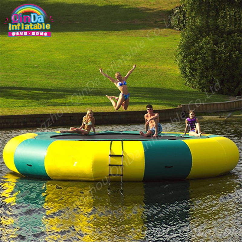 5 m Diameter Aqua Park Round Inflatable Trampoline From China, Air Bouncer Inflatable Trampolines ,Air Jumping Bed For Sale protable water trampoline 3m diameter inflatable water jumping bed water platform inflatable bouncer pool float toy