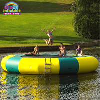 5 m Diameter Aqua Park Round Inflatable Trampoline From China, Air Bouncer Inflatable Trampolines ,Air Jumping Bed For Sale