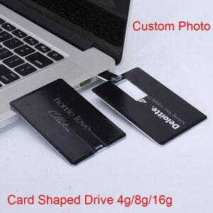 Image 4 - Diy criativo usb 2.0 flash cartão de crédito 16 gb 32 gb usb pen drive pen drive 4 gb 8 gb imprimir sua foto ou logotipo personalizado da empresa presente